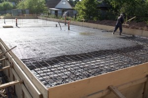 Team constructs concrete slab foundation correctly